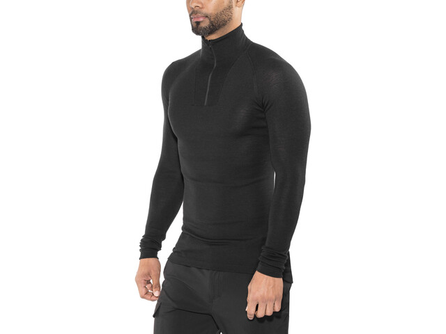 Woolpower Lite Zip Turtle Neck black